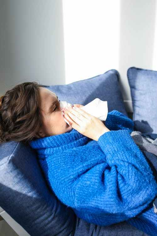 Sick Woman Cold